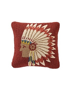 Chief's Concho Hooked Pillow