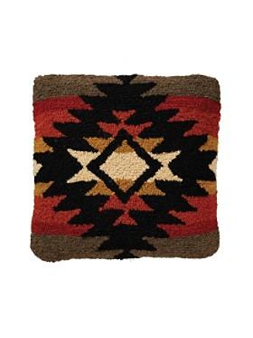 Pueblo Dwelling Hooked Pillow