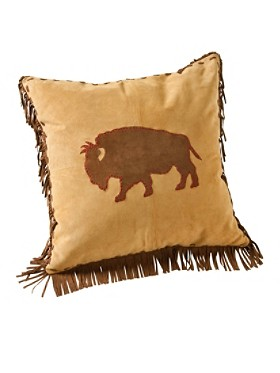 Leather Bison Pillow