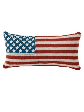 Knit Flag Pillow