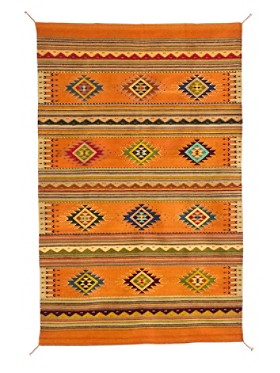 Handcrafted Saltillo Calabasa Rug