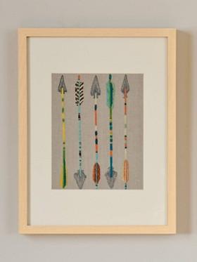 Five Arrows Framed Stitched Artwork