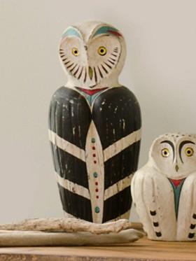 Handcarved Large Spirit Owl