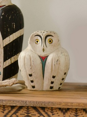 Handcarved Small Spirit Owl