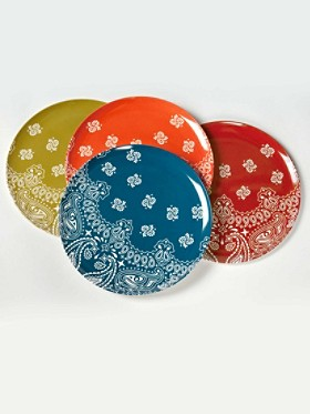 Ranchero Bandana Dinner Plates, Set Of 4