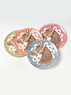 Ranchero Horse Side Plates, Set Of 4