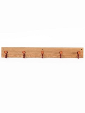 Chester Oak 5-peg Coat Rack