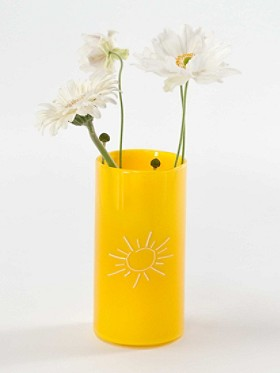 Yellow Sun Sketch Vase