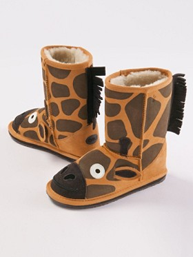 Little Creatures Giraffe Slippers