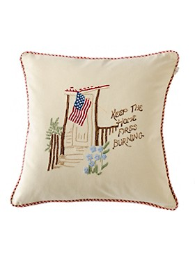 Keep The Home Fires Burning Pillow
