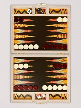 Flame Stitch Backgammon Board