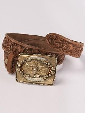 Bull Skull Buckle Belt