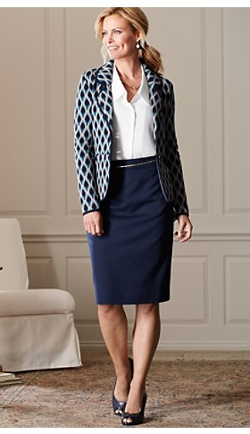 Gigi Knit Blazer And Ultra 9 Pencil Skirt