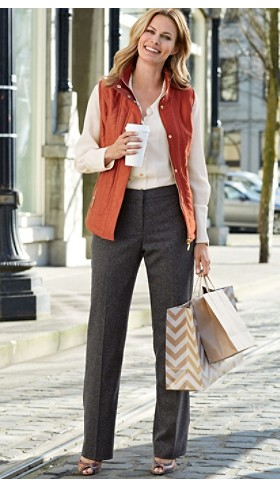 Quilted Vest And Donegal Tweed Trousers