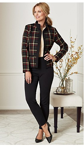 Plaid Wool Flannel Helena Jacket