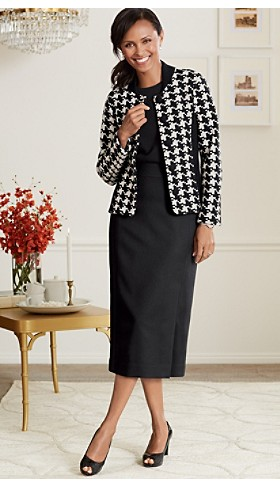 Davis Boiled Wool Houndstooth Jacket