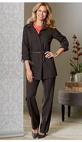 Micro Pinstripe Tunic And Pants