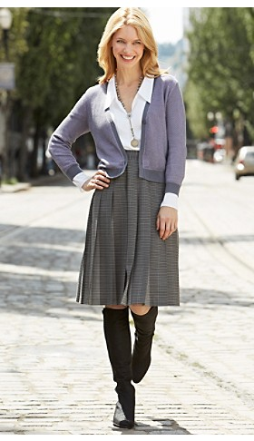 Mia Cardigan And Pleat Skirt