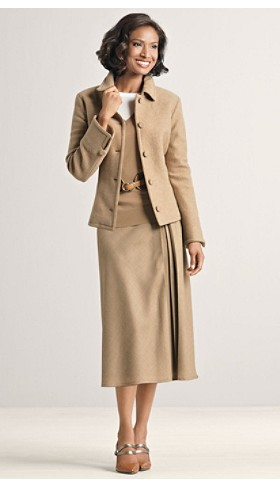 Boiled Wool Jacket And Wool Skirt