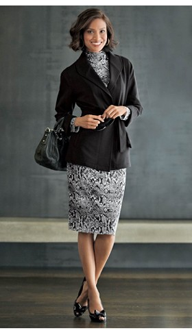 Print Blouse And Skirt