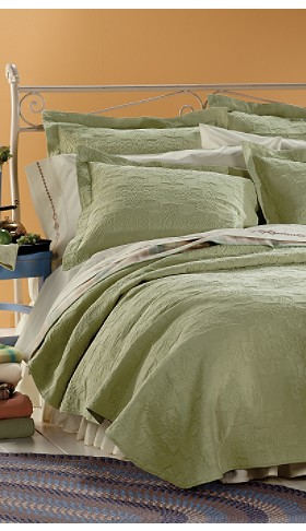 Sage Matelasse Bedding Collection