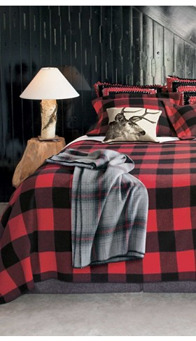 Red/black Check Lumberman Blanket Collection