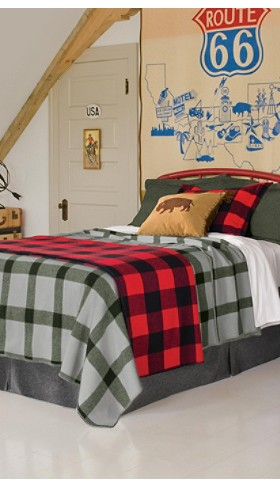 Eco-wise Wool Plaid Bedding Collection