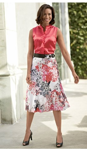 Mimi Blouse And Tonya Silk Skirt