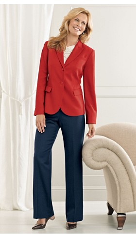 Seasonless Wool Suit Jacket And Trousers