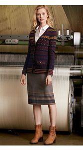 All American Cardigan And Border Skirt