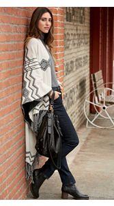 Knit Blanket Shawl