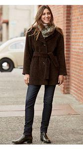 Belted Alpaca Coat