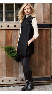 Tami Boiled Wool Tunic Vest And Leggings