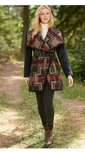 Pendleton Signature Blanket Wrap Coat And Leggings