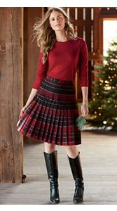 Pendleton Reversible Skirt And Merino Pullover