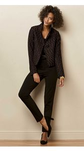 Tweed Lined Jacket And Ankle Pants