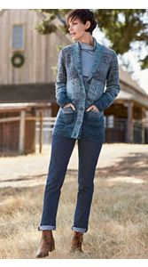 Heather Hill Cardigan And Jeans