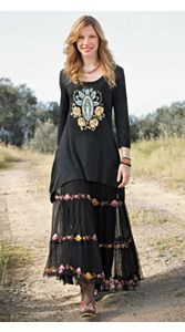 Madonna Tunic And Victoria Maxi Skirt