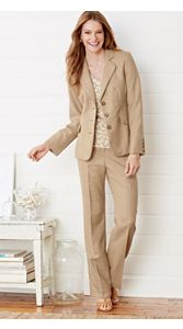 Wool-lin Trimmed Blazer And Trousers