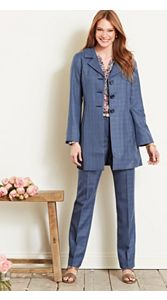 Wool-lin Shaped Jacket And Trousers