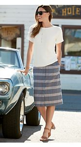 Riley Plaid Skirt