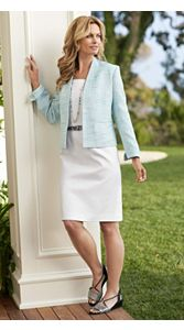 Beyond The Sea Tweed Jacket And Gloria Dress