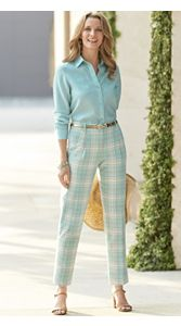 Pomona Plaid Pants