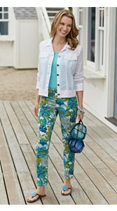 Eyelet Jacket And Print Pants