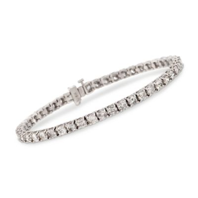 "7"" 8.00 ct. t.w. Diamond Tennis Bracelet in 14kt White Gold"