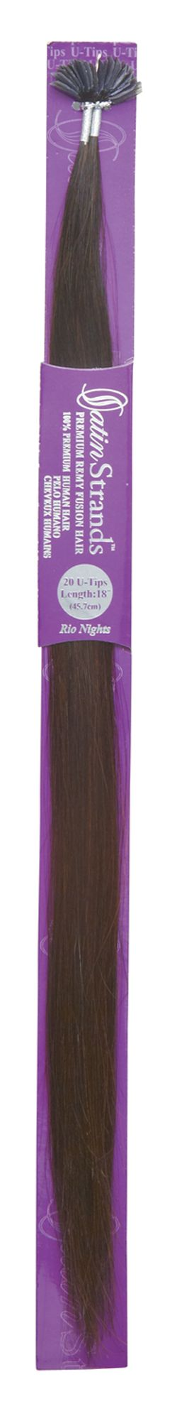 Satin Strands Premium 100% Remy Human Hair U-Tip Fusion Hair Extensions Rio Nights