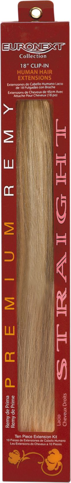 Euronext Remy 18 inch Clip-In Hair Extensions Blonde Frost