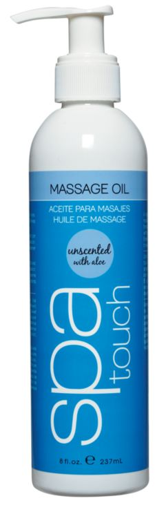 Spa Touch Unscented Massage Oil 8 oz.