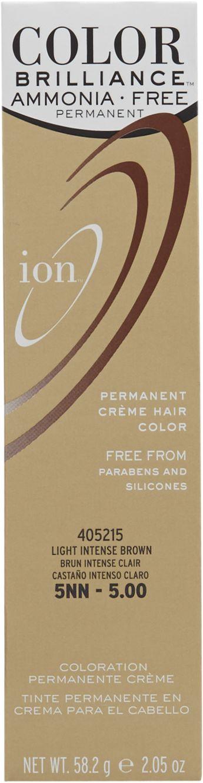 Ion Ammonia Free Hair Color 5nn Light Intense Brown