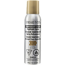 streaks n tips temporary highlight spray gold dust. Black Bedroom Furniture Sets. Home Design Ideas